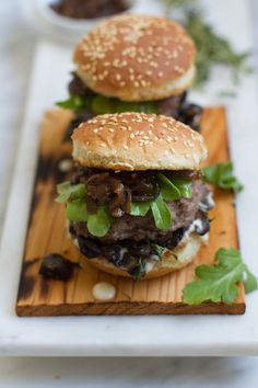 Bison Burger Sliders with Whiskey Onions | http://saltandwind.com