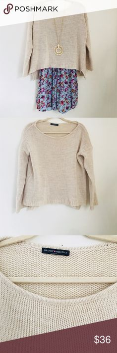 Brandy Melville Oatmeal Pullover Sweater Thank you so much for checking out my listing!   Wore only 1 or 2 times, excellent condition, no flaws.   Please don't hesitate to ask questions 🌸 Brandy Melville Sweaters