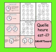 Interactive SMARTboard Lesson by Carmela Fiorino Vieira French Teaching Resources, Teaching French, Teaching Tools, Teaching Ideas, French Classroom, Math Classroom, High School French, French Worksheets, Interactive Board