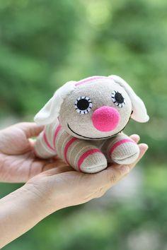 T8 Handmade sock dog stuffed animal toys soft by Toyapartment, $11.50