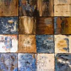 Blue Chocolate - oil and mixed media on canvas - first on the chocolate production line  ©2015 Kendrea Rhodes