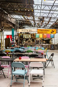 Street Food Market in Shoreditch, London