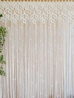 Macrame curtain boho decor customizable macrame for door Bohemian Bedroom Decor, Boho Decor, Wall Hanger, Plant Hanger, Recycled Decor, Raw Color, Macrame Curtain, Macrame Patterns, Diy Wall