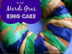 Mardi Gras King Cake Recipe with Crescent Rolls!