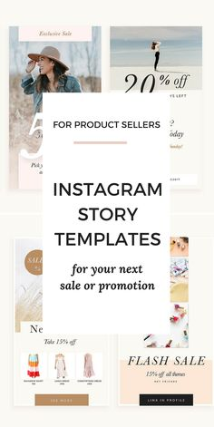 Instagram Story Templates + Designs for Promotions/Sales | How to brand your Instagram Stories | How to Use Instagram Stories to Promote your Business and grow your Instagram | Increase your Instagram Engagement with Instagram Stories | CreativeMarket afflink