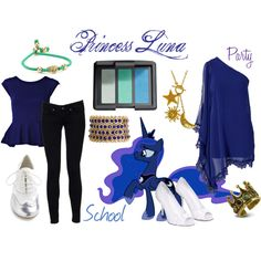 """Princess Luna (My Little Pony: Friendship is Magic)"" by colorsgalore on Polyvore"