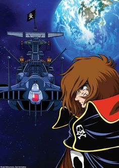 Capitan Harlock e l' Arcadia Anime Manga, Anime Art, Space Pirate Captain Harlock, Hobbies For Adults, Robot Cartoon, Japanese Superheroes, Japanese Cartoon, Fan Art, Classic Cartoons
