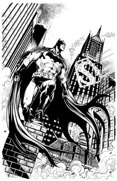 Batman joins the Search for Superman by Tom Derenick Comic Art