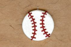 Baseball Sports Team Polymer Clay Bow Centers, Beads, Pendant | thecornerclayshoppe - Jewelry on ArtFire