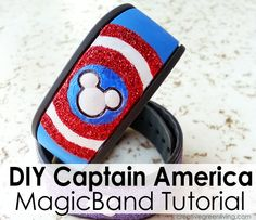 How to Make a Personalized Captain America MagicBand ~ Creative Green Living