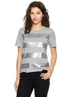 Gap // Sequin-stripe sweatshirt T // Julia Franks Photography + Eight Twenty One Studio Style Guide
