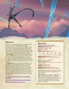 Dungeons & Dragons — Here's mewtwo! Dungeons And Dragons Rules, Dungeons And Dragons Homebrew, Fantasy Creatures, Mythical Creatures, Pokemon Dungeon, Dnd Stats, Dnd Races, Dnd 5e Homebrew, Dragon Memes