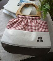 sold 2011 Wooden Handle Bag, Wooden Handles, Change, Handbags, Tote Bag, Patterns, Fabric Purses, Dressmaking, Tutorial Sewing