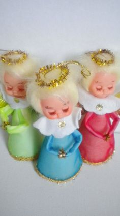 Vintage Angel Christmas Ornaments | Vintage Angel Ornaments Retro Kitsch Holiday Decor Japan