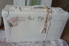 """Vintage Koffer - shabby Koffer """" Mein Brautkleid...."""" - ein Designerstück von Troedelliebelei bei DaWanda"""