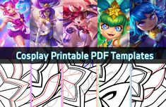Printable Cosplay Pattern & Prop PDF Downloads! Overwatch | League of Legends | Heroes of the Storm | World of Warcraft | Anime | Manga