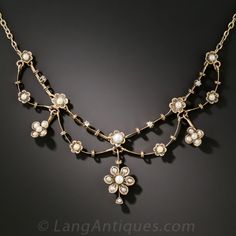 Victorian Seed Pearl Necklace - 90-1-6513 - Lang Antiques