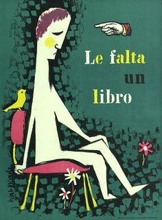 'You need a book' - 'Le falta un libro' Ricard Giralt-Miracle 1959 via