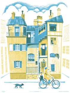 """""""A Ride Through Town"""" inspired by the film Mon Oncle"""