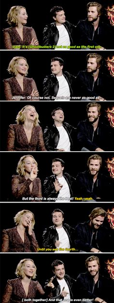 Hahaha, and here we have the cast of THG blowing it again