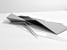 A series of conceptual abstraction models exploring movement, materials, mass, light, and shadow.: