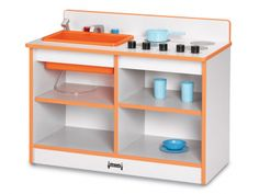 JONTI-CRAFT:  2-in-1 TODDLER KITCHEN - ORANGE $202