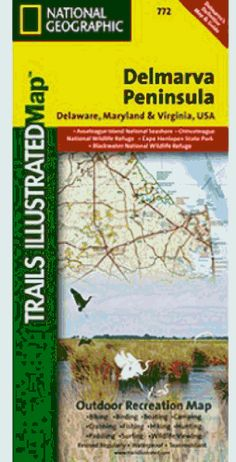 Trails Illustrated Delmarva Peninsula Trail Map ** Click image to review more details.