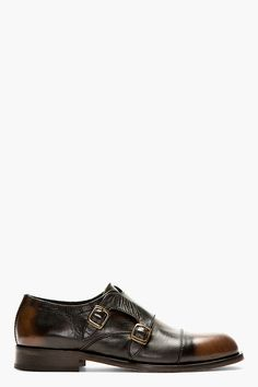 cd6214bcb87 H BY HUDSON Black Monk Strap Marshall Shoes Marshall Shoes