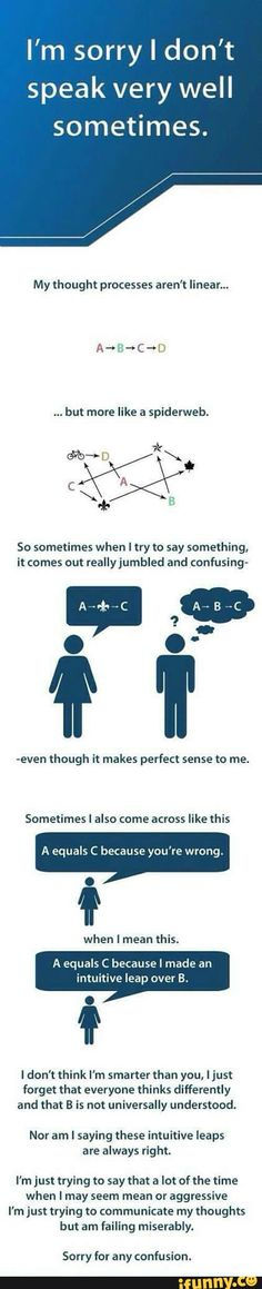I relate really hard to this. Every time I actually explain my feelings on certain subjects to people.