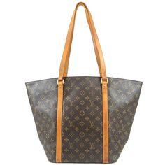 Authentic LOUIS VUITTON Monogram Sac Shopping Shoulder Bag M51108 Used F S   fashion  clothing  shoes  accessories  womensbagshandbags (ebay link) d908aeb0eb9
