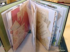 Storing my paper scraps by type, color or style in a scrapbook has organized my life!