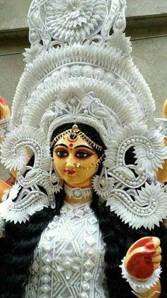 New Beautiful Latest Mata Ji Navratri Wallpaper And Wishes Collection By WaoFam. Shiva Parvati Images, Durga Images, Shiva Hindu, Hindu Rituals, Lakshmi Images, Shiva Shakti, Hindu Deities, Hinduism, Durga Ji