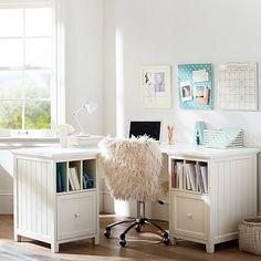 Beadboard Smart Drawer & Divider Corner Desk – Home Office Design Corner Desk Chair Teen, Teen Desk, Desk Chairs, Room Chairs, Bedroom Desk, Bedroom Furniture, Bedroom Inspo, Furniture Decor, Divider Cabinet