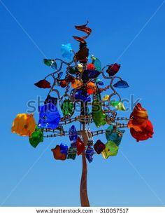 Colorful wind whirligig  - stock photo
