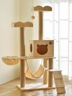 Product Name:Cat Tower FurnitureMaterial:Compressed wood boards、plush fabric、Natural sisal -Covered Scratching Diy Cat Tent, Cat Gym, Cat Stands, Cat Activity, Cat Store, Wood Cat, Cat Towers, Cat Playground, Cat Decor