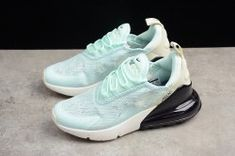 9ae99a38cf8e7 Latest Style Nike Air Max 270 Flyknit Mint Green Black White AH6789 117  Trainer Women s Running