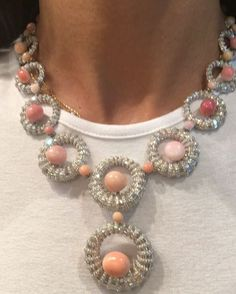 Diamond & Conch Pearl Necklace  @saboofinejewels #Saboo #bjc