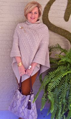 A poncho is one of the easiest fall trends to wear. It can go with jeans, skirts, or leggings. A poncho instantly transforms a blah outfit, to a wow outfit.