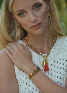 "18"" Kalli Tassel Necklace & Grace Choker wrapped as a bracelet!  ExVoto Vintage Jewelry"