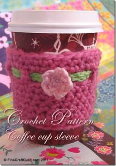 Beautiful, Inexpensive Patterns. These coffee cup cozies and other small crochet items make great holiday gifts....