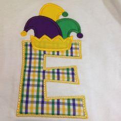 Mardi Gras Initial shirt