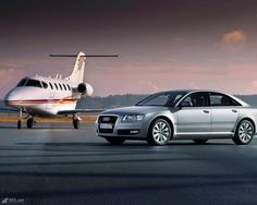 Audi A8 with jet