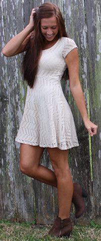 Laser Cut Skater Dress - Taupe – Monica's Closet Essentials