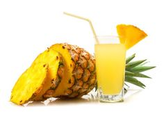 Pineapple contains a natural enzymes called bromelain, which break down protein and helps aid digestion. Bromelain may also help prevent blood clots, inhibit growth of cancer cells and speed wound healing.