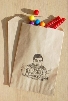 Treat YoSelf Treat Bags Parks and Recreation Gift Favor Bags