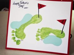 ideas birthday card for dad from kids golf - Frühlings Dekoration Happy Birthday Grandpa, Mum Birthday Gift, Birthday Crafts, Birthday Wishes, Birthday Parties, Fathers Day Ideas For Husband, First Fathers Day Gifts, Fathers Day Crafts, Diy Father's Day Gifts