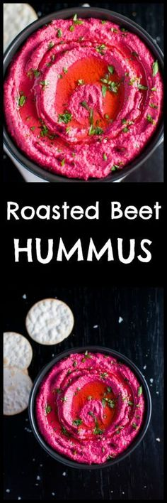 Add some color to your life with this roasted beet hummus - a bright pink dip that's a real crowd pleaser.