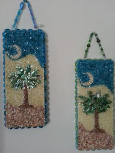 Pair of Palmetto Mosaic Trees-$47.99 by MAYRA FELICIANO