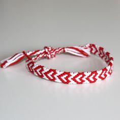 Pick your color: Hearts friendship bracelet - Made to order. via Etsy. Baba Marta, Heart Friendship Bracelets, All You Need Is Love, Bracelet Making, Bff, Macrame, Origami, Gems, Jewels
