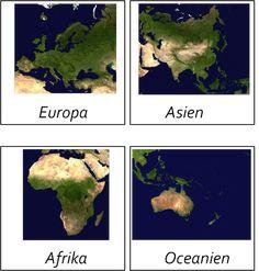 Världsdelskort -beställning